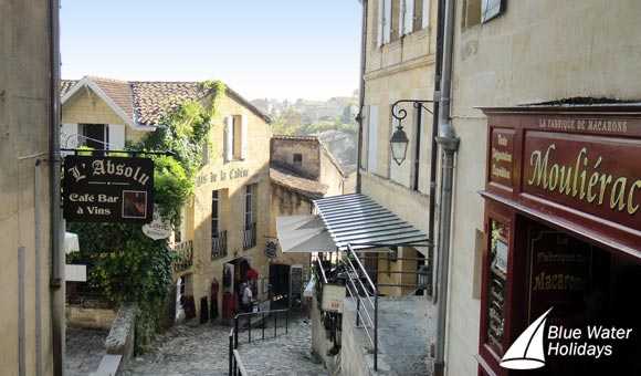 Explore the charming narrow streets of Saint Emilion