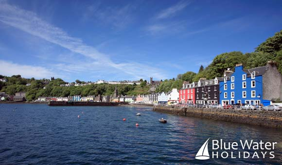 Colourful Tobermory is a popular port on British Isles itineraries