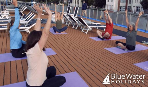 Enjoy a yoga session on the Sun Deck