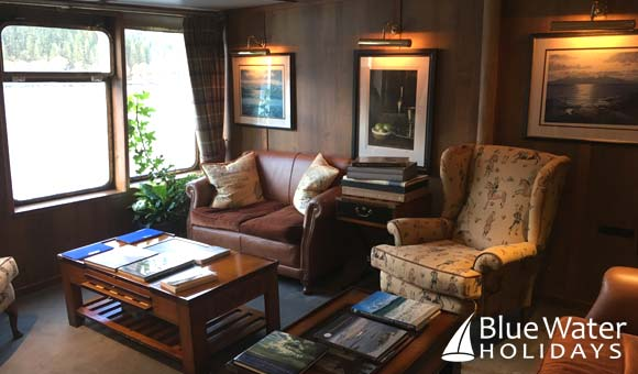 Library on Hebridean Princess