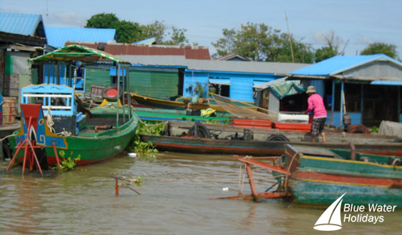 Floating Houses Along the Mekong