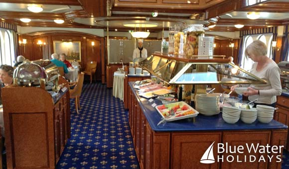 The restaurant onboard Royal Crown