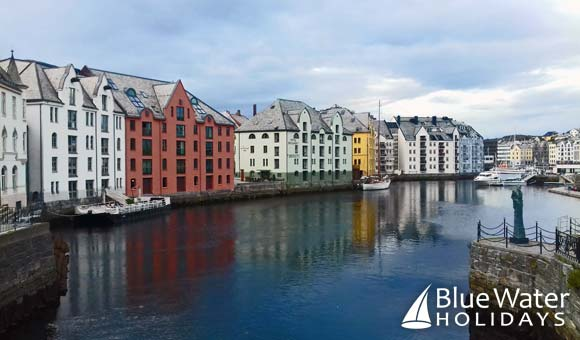 Colourful waterfront in Alesund