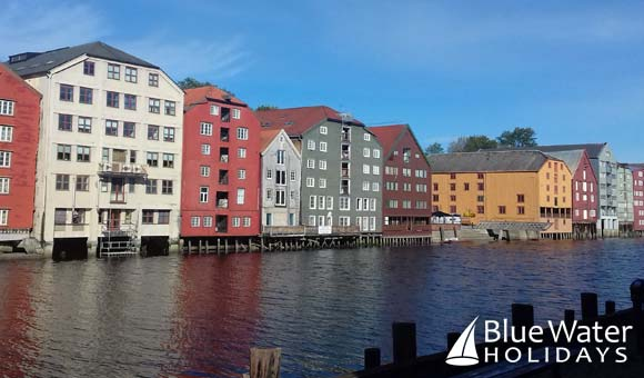 Admire the houses on stilts in Trondheim