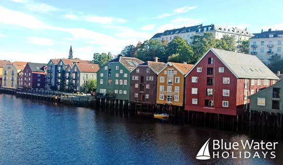 Trondheim's colourful waterfront