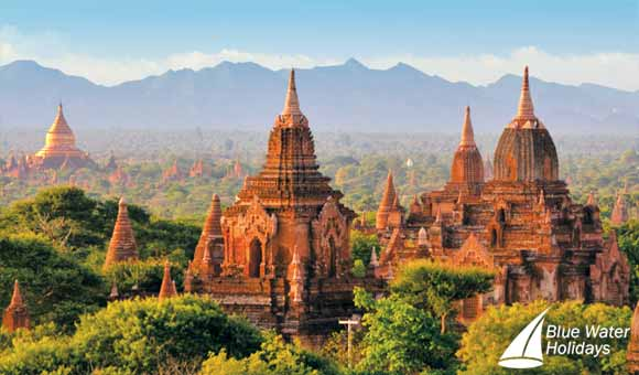 Bagan temples in Burma, visited on Irrawaddy itineraries