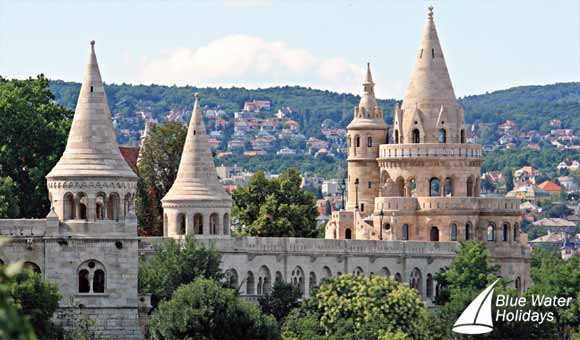 Fisherman's Bastion in Budapest, situated on the Danube