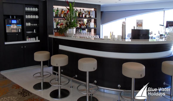 Enjoy a drink with friends in the stylish bar