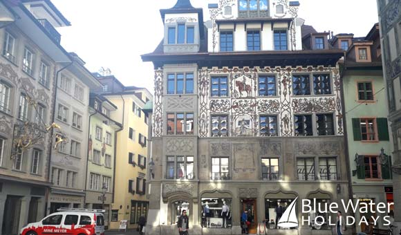 Magnificent architecture in Lucerne
