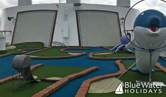 Crazy golf on deck