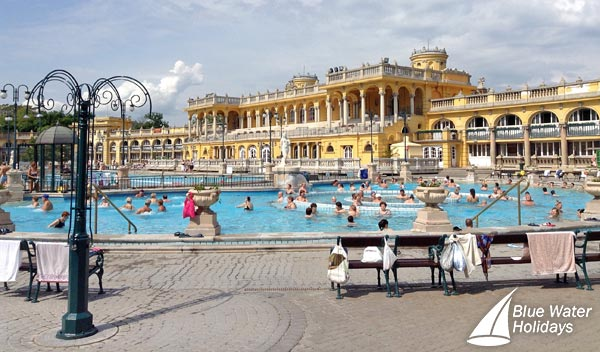 Relax at the Szecheny Baths in Budapest
