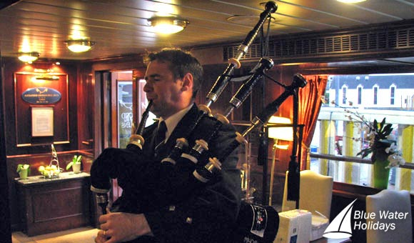 Piping in the haggis at the Farewell Dinner