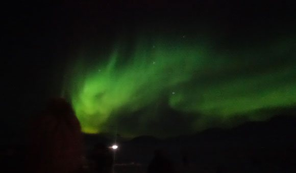 Northern Lights Seen at Camp Barentz