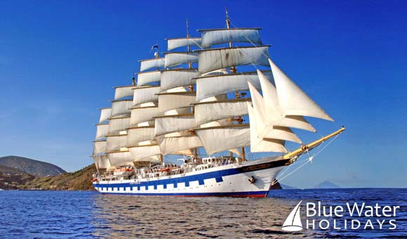 The magnificent five-masted Royal Clipper