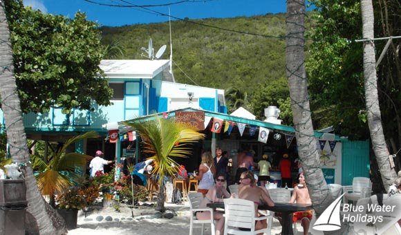 The Soggy Dollar Bar at Jost van Dyke