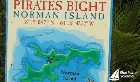 Norman Island - the reputed Treasure Island