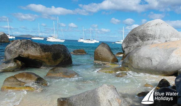 Hire yachts off the Baths at Virgin Gorda