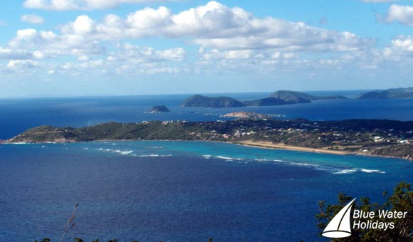 View over Virgin Gorda and the BVI