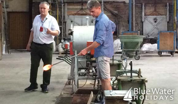 Glass-blowing demonstration