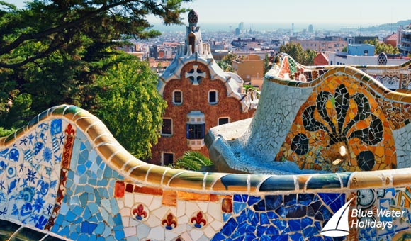 Perhaps visit the colourful Park Guell in Barcelona