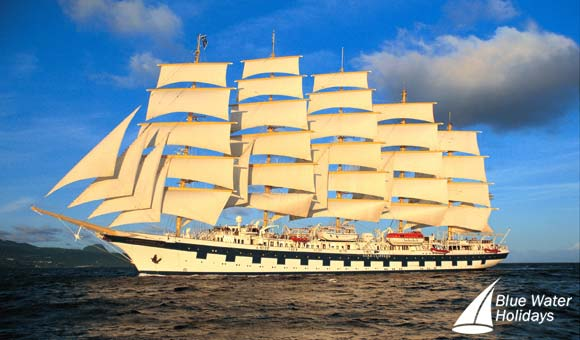 Five-masted sailing ship Royal Clipper