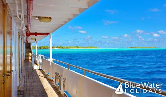 Views from the deck of Yasawa Princess