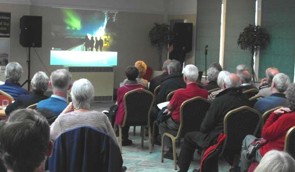 Guests enjoying a cruise line presentation at the 2016 Yorkshire Cruise Show