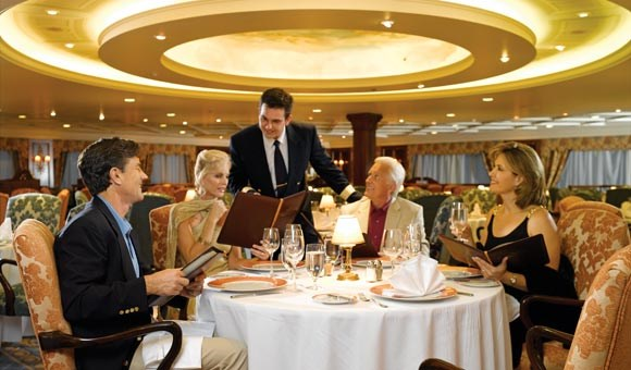 Relax in the elegant Grand Dining Room