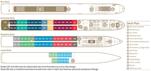 Scenic Ruby and Pearl Deckplan