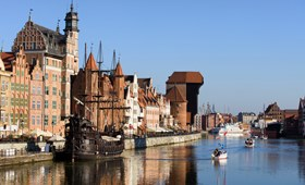 Gdansk old waterfront (Poland)
