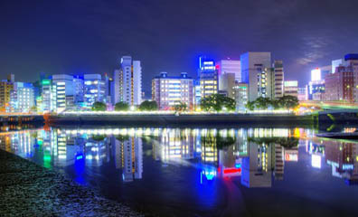 Downtown Hiroshima, Japan
