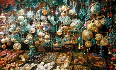 Christmas Decorations at Festive Market