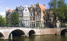 Cruise the canals of Amsterdam