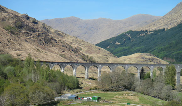 Glenfinnan Viaduct used in the Harry Potter films