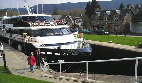 The locks at Fort Augustus