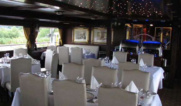 Dining on board Lord of the Glens