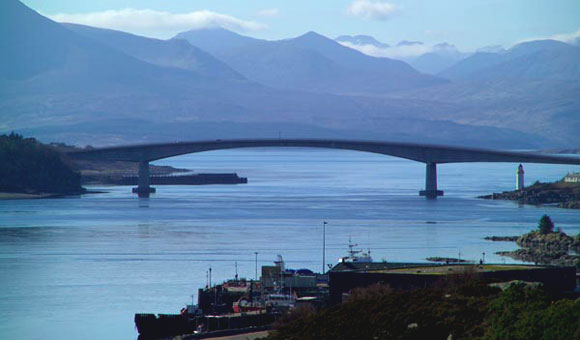 The Skye Bridge and Kyle of Lochalsh